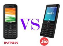 Intex Turbo+4G Feature Phone VS Reliance JioPhone