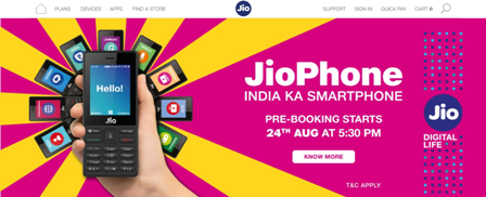 Reliance JioPhone Booking