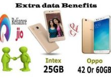 Reliance Jio Extra data Benefits