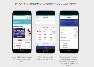Cashback Vouchers on MyJio