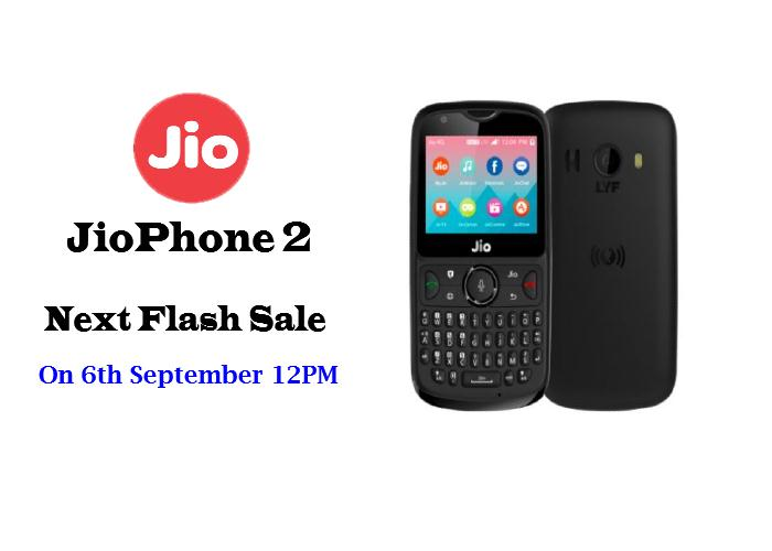 JioPhone 2 Next Flash Sale on September