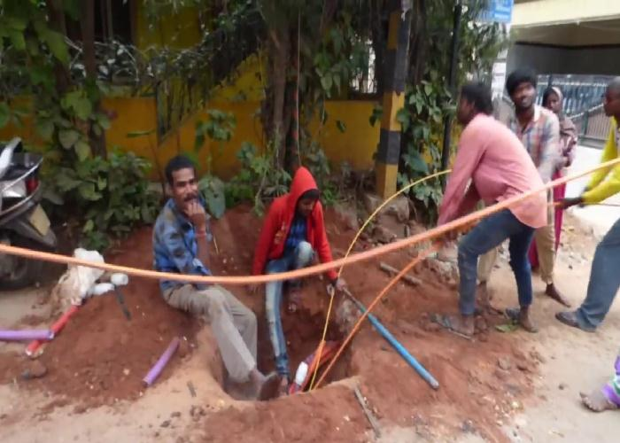 Optic Fiber Cable Laying Works
