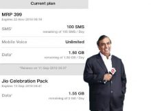 Reliance Jio Offering Celebration Pack
