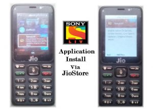 SonyLIV Application Install On JioPhone