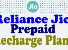 Prepaid Recharge Plans of Reliance Jio