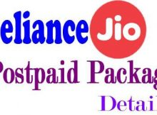 Reliance Jio Postpaid Package