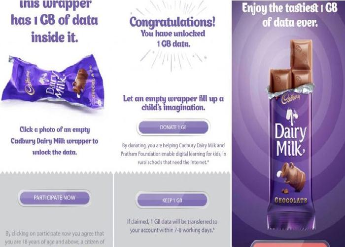 Reliance Jio Offering Free Data With Dairy Milk Chocolate